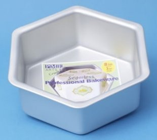 PME Deep Hexagon Cake Pan 30 x 7,5 cm.