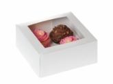 HoM Cupcakes doosje met venster - voor 4 cupcakes