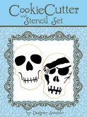 Halloween Skull Cookie Cutter & Stencil
