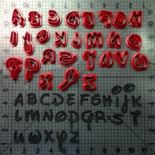 Koekjes Uitsteker Disney alfabet kleine letters