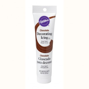 Wilton Ready-to-use Icing tube Chocolate 120gr.