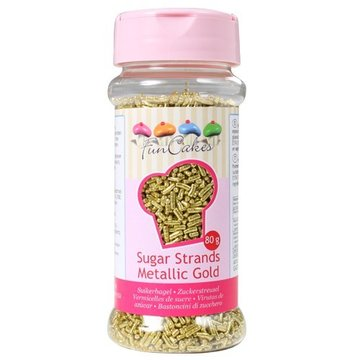 FunCakes Sugar Strands Metalic Gold - 80gr