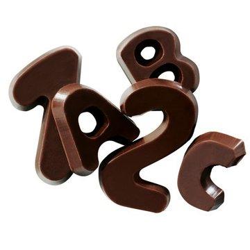 Callebaut Chocolade Decoraties Alfabet - Puur 60 gr