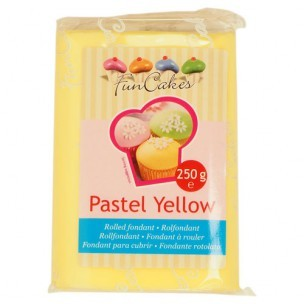 FunCakes Rolfondant Geel Pastel Yellow, 250gr