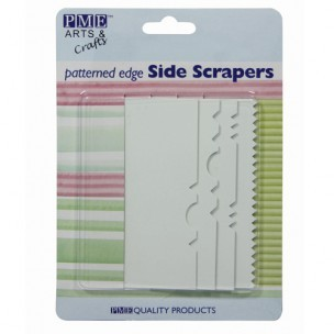 PME Patterned Edge Side Scraper, set/4