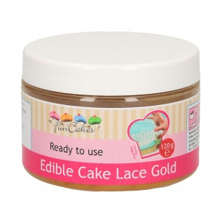 Funcakes Edible Cake Lace, Gold 120 gr.