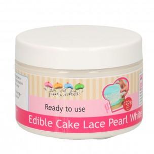 Funcakes Edible Cake Lace, Pearl White 120 gr.