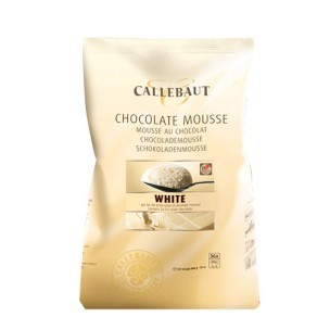 Callebaut Chocolade Mousse, Wit 800 gr.