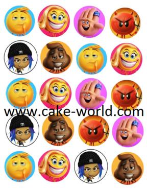 Emoji Film eetbare print 20 st.
