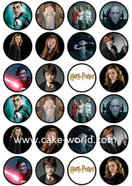 Harry Potter eetbare print 24st.