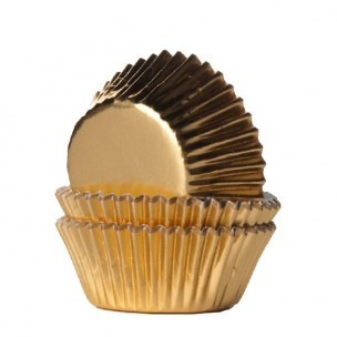 House of Marie Mini Baking Cups Folie Goud 36st.