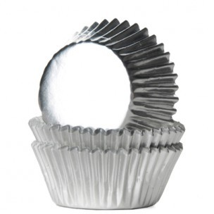 House of Marie Mini Baking Cups Folie Zilver 36st.