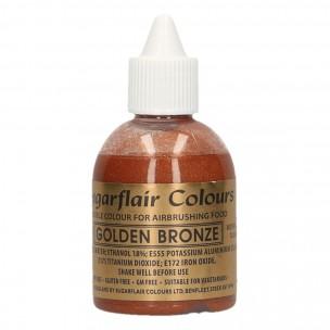 Sugarflair Airbrush Colouring Golden Bronze 60ml