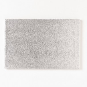 Cakeboard Zilver rechthoek 40,5x30,5cm