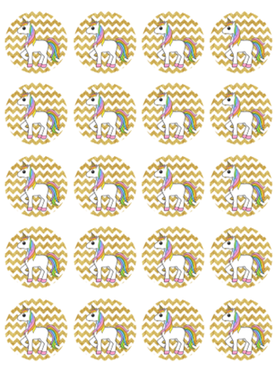 Unicorn cupcake print 20st.