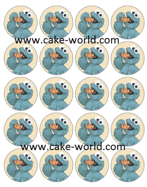 Cookie monster cupcake print 20st.