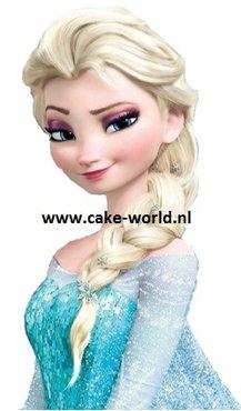 Frozen Elsa Taartprint Hoog