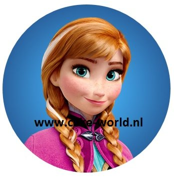 Frozen Anna taartprint