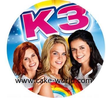 K3 taartprint rond
