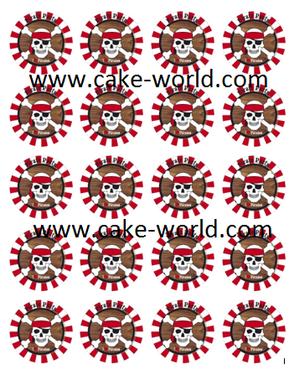 Piraat cupcake print 20st