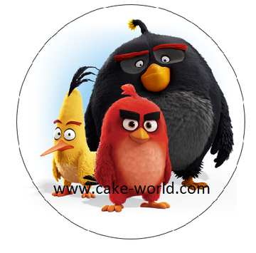 Angry Birds taartprint rond