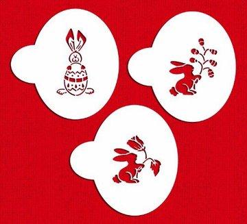 Designer Stencil Easter Bunnies