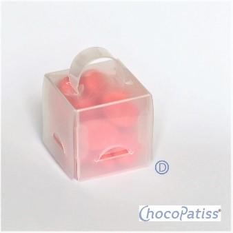 ChocoPatiss Mini Gift Box Kunststof 4,5x4,5x4,5cm, glans 5st.