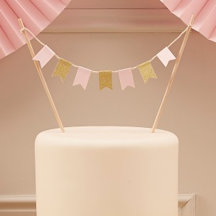 Ginger Ray Cake Bunting Topper, Pastel Perfection
