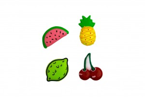 Doric Cake Crafts Suikerdecoratie assorted Fruits pk/12