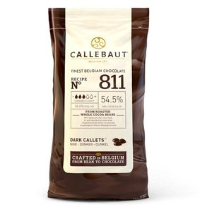 Callebaut Chocolade Callets - puur 1kg