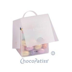 ChocoPatiss Small Gift Box Kunststof 10x10x10cm, mat 3st.