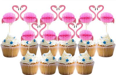 Flamingo Cupcake Topper/10st.