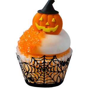 Halloween Cupcake Wrappers Web Black pk/12