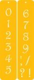 Contemporary Numbers Designer Stencil