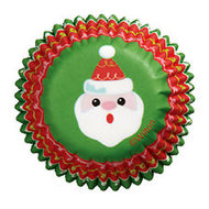 Wilton Holiday Santa Mini Baking Cups, 100st