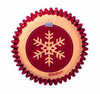 Wilton Holiday Snowflake Winter Mini Baking Cups, 100st