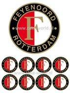 Feyenoord logo taart en cupcakes eetbare print