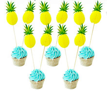 Ananas Cupcake Topper/10st.
