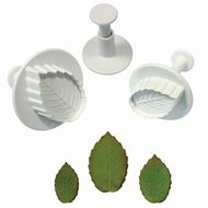 PME Rose Leaf Plunger Cutter set/3