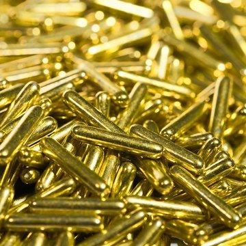 BrandNewCake Sugar Rods Metallic Goudgeel 80gr