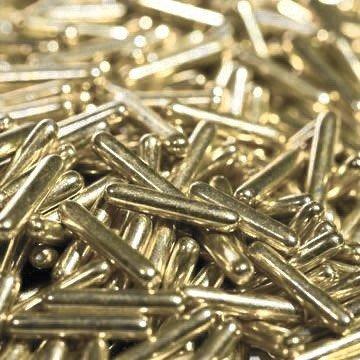 BrandNewCake Sugar Rods Metallic Licht Goud 80gr