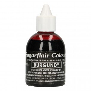 Sugarflair Airbrush Colouring Burgundy 60ml