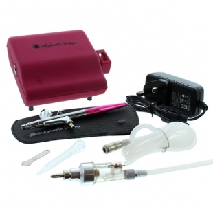 Dinkydoodle Airbrush & Compressor Kit Hot Pink