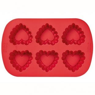 Wilton Silicone Bakvorm Ruffled Heart
