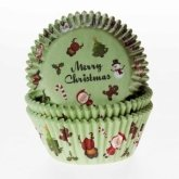 House of Marie Baking Cups Merry Christmas, 50 st