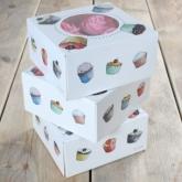 FunCakes Cupcake Doosje voor 4 Cupcakes/3pk