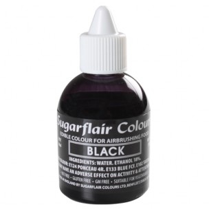 Sugarflair Airbrush Colouring Black 60ml