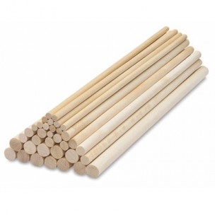 PME Dowel Rods Bamboo /12st
