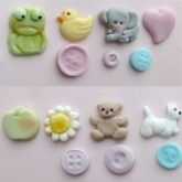 Karen Davies Siliconen Mould Baby Button