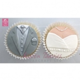 Karen Davies Siliconen Cupcake Top Mould Bride & Groom